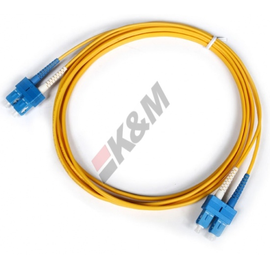 SC-PC, SC Duplex PC 3,0 mm PVC 9/125 Singlemode Patch cord