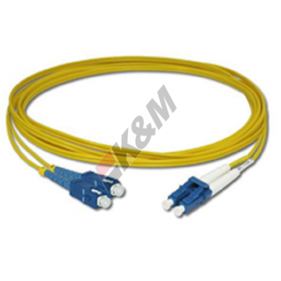 SCPC, LC PC SM DX G652D 2,0 MM LSZH Patchkabel