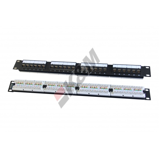 1U 24 Ports UTP CAT5E Patch-Panel